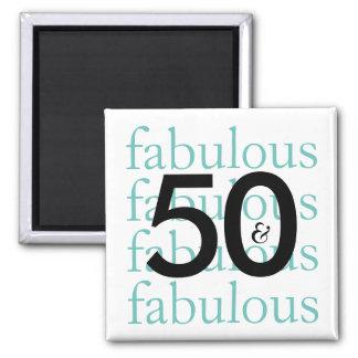 Imã 50 e | fabuloso pretos, branco, tipografia da