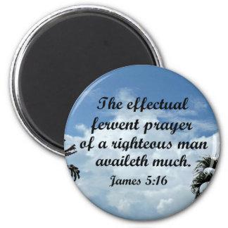 Imã 5:16 de James a oração fervente effectual de