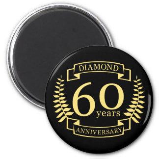 Imã 60th Amarelo do diamante do ANIVERSÁRIO de