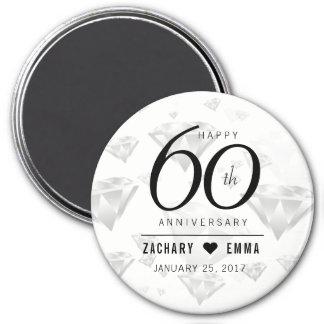 Imã 60th aniversário de casamento elegante do diamante