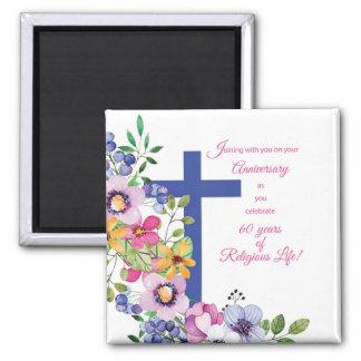 Imã 60th Aniversário, freira, cruz religiosa da vida
