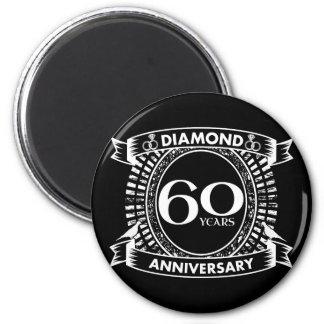 Imã 60th crista do diamante do aniversário de