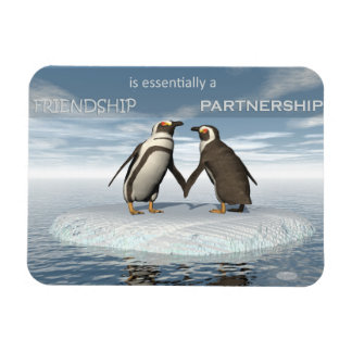 Ímã A amizade é essentailly uma parceria