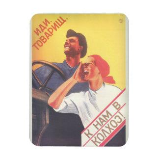 "Ímã A arte soviética do vintage ""junta-se a nossa"