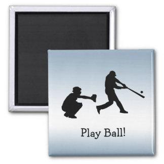 Imã A bola azul do jogo de basebol ostenta o ímã