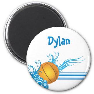 Imã A bola do basquetebol ostenta o nome personalizado