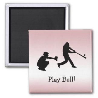 Imã A bola feminino cor-de-rosa doce do jogo de
