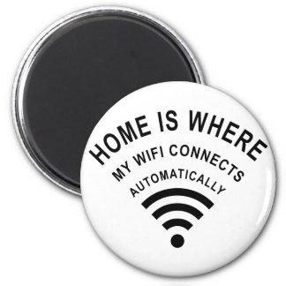 Imã A casa é o lugar onde meu wifi conecta