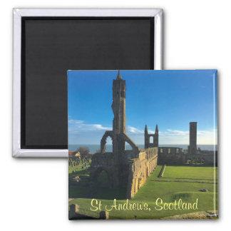 Imã A catedral de St Andrews Scotland arruina o ímã da