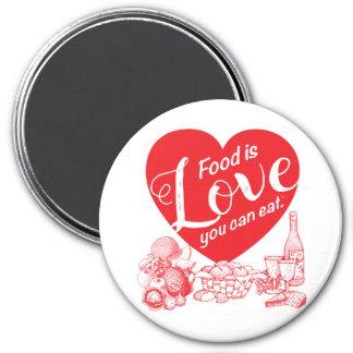 Imã A comida é amor que você pode comer o Ímã-Amore II
