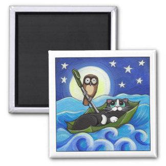 Imã A coruja e a arte lunática do gato do gatinho |