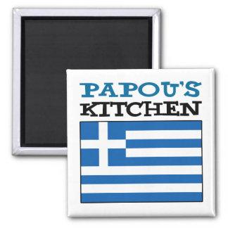 Imã A cozinha de Papou com a bandeira da piscina