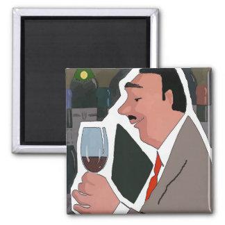 Imã A degustação de vinhos, adiciona o texto,