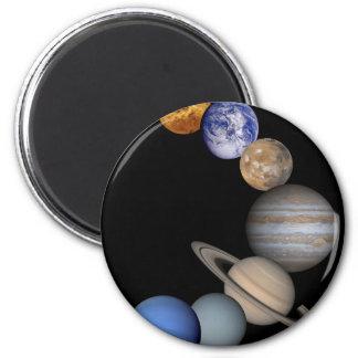 Imã A escala do sistema solar nossos planetas