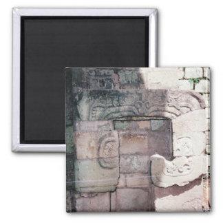 Imã A foto maia antiga das ruínas projetou o