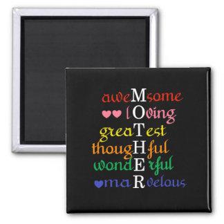 Imã A Impressionante-Loving-Grande mãe nos arcos-íris