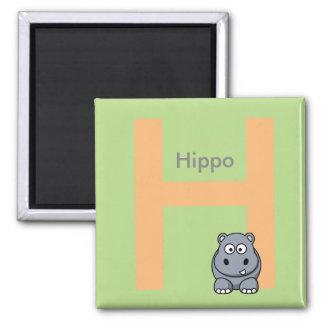 Imã A letra H é para o ímã das crianças do hipopótamo