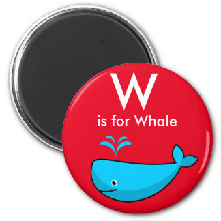"""Imã A """"letra W"""" é para o ímã das crianças da baleia"""