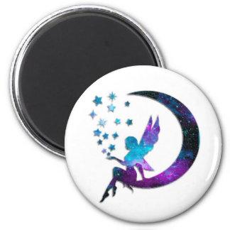 Imã A lua feericamente Stars o roxo