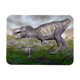 Ímã A mãe do dinossauro do rex do tiranossauro e o