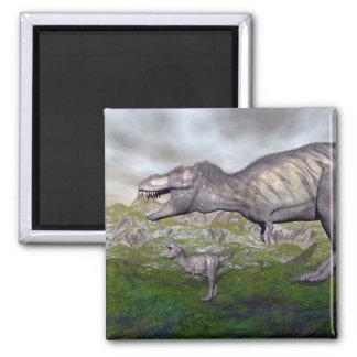 Imã A mãe do dinossauro do rex do tiranossauro e o