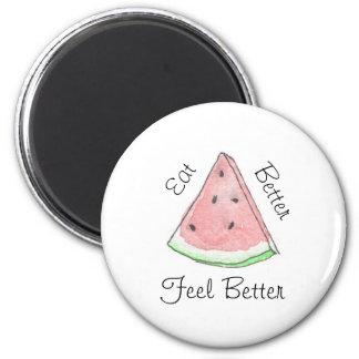 Imã A melancia come o melhor ímã da melhor sensação