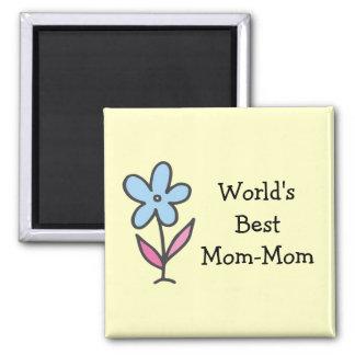 Imã A melhor Mamã-Mamã do mundo com flor
