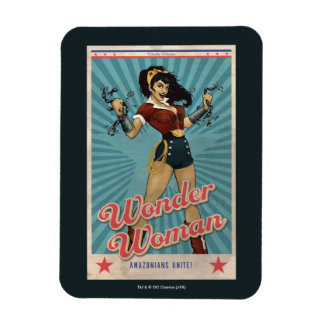 Ímã A mulher maravilha Amazonians une o poster vintage