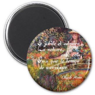 Imã A natureza no art. de Monet