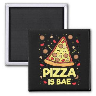 Imã A pizza é Bae - desenhos animados engraçados -