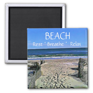 Imã A praia respira relaxa o ímã do resto