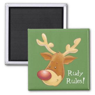 Imã A rena cheirada vermelha de Rudolph ordena o ímã