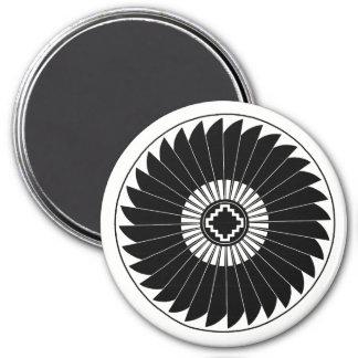 Imã A roda da pena, design da cerâmica de Mimbres