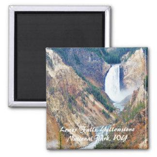 Imã Abaixe quedas, parque de Yellowstone, WY