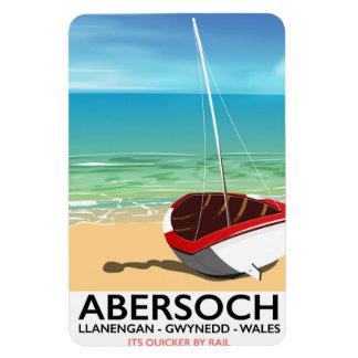 Ímã Abersoch, poster de viagens de Llanengan Wales