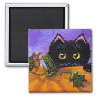 Imã Abóbora engraçada Creationarts do rato do gato