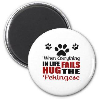 Imã Abrace o cão de Pekingese