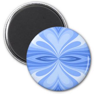 Imã Abstrato azul da borboleta do coração
