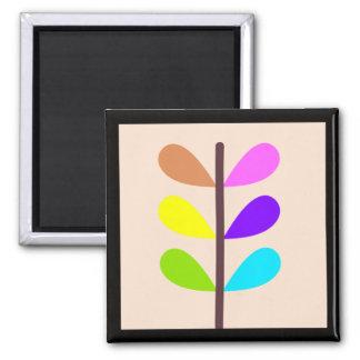 Imã Abstrato colorido da planta