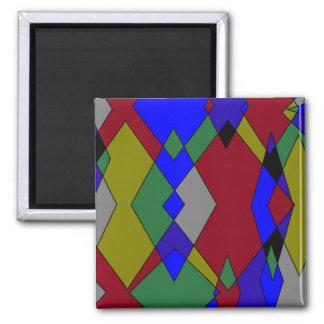Imã Abstrato colorido retro do diamante