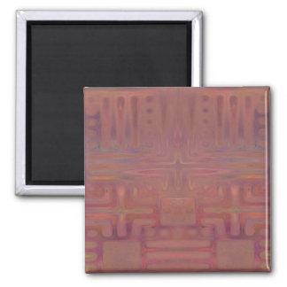 Ímã abstrato colorido vinho da mostra do outono ímã quadrado