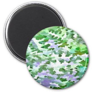 Imã Abstrato da folha em verde e no malva