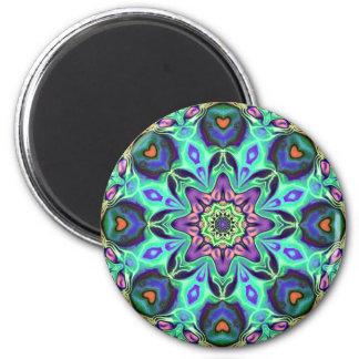 Imã Abstrato da mandala de turquesa