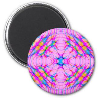 Imã Abstrato do teste padrão do caleidoscópio do rosa