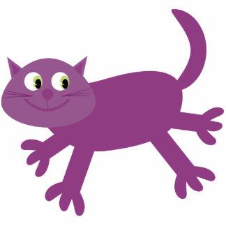Ímã acrílico especial do gato roxo running bonito foto escultura