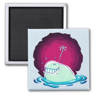 Imã água da baleia branca que pulveriza desenhos