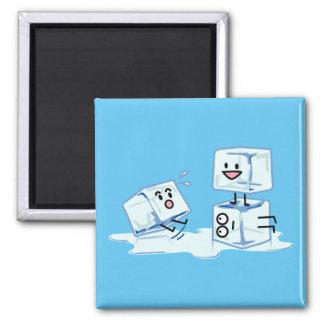 Imã água gelada do cubo dos cubos de gelo que desliza
