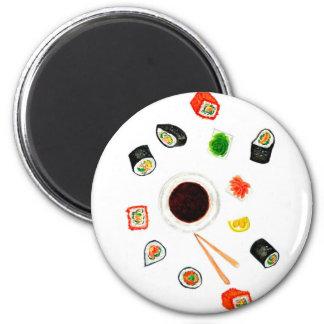 Imã Aguarela ajustada do sushi