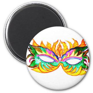 Imã Aguarela da máscara do carnaval