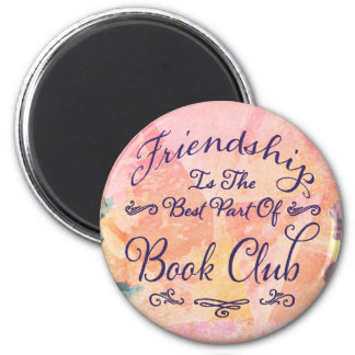 Imã aguarela do bibliophile da amizade do clube de